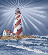 Image credit: <a href='http://www.123rf.com/photo_7438300_illustration-of-a-lighthouse-illuminating-the-night.html'>lisann / 123RF Stock Photo</a>